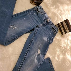 ♡Justice♡ mid wash jeans💙